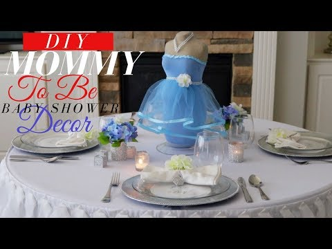 DIY BABY SHOWER IDEAS | MOMMY TO BE BABY SHOWER CENTERPIECE