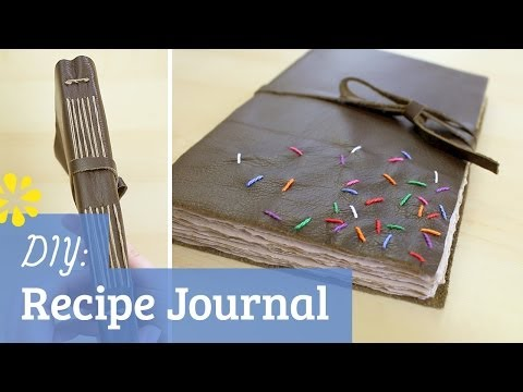 DIY Leather Recipe Journal | How To Cook That Collab | Sea Lemon