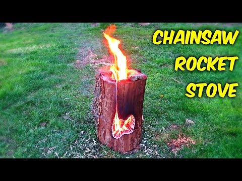 Chainsaw Rocket Log Stove