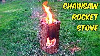 Chainsaw Rocket Log Stove