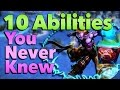 10 Abilities You Might Not Know Existed in League of Legends