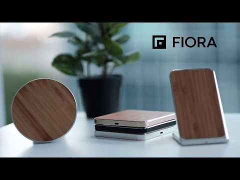 Fiora Wood Collection Wireless Charging Stand/Pad for iPhone, Samsung, LG & Wireless Qi Devices