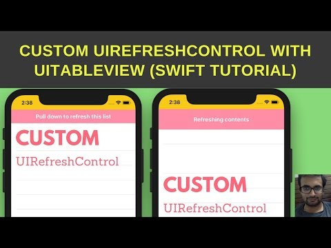 Swift Tutorial :-  Custom UIRefreshControl swift iOS