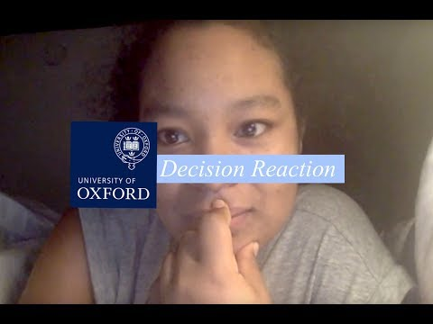 Oxford University Decision Reaction 2018
