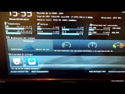 Configurar BIOS UEFI ASUS para Arrancar con CD o USB  (Placas ASUS P8Z77-V, p8z68-v y más modelos)