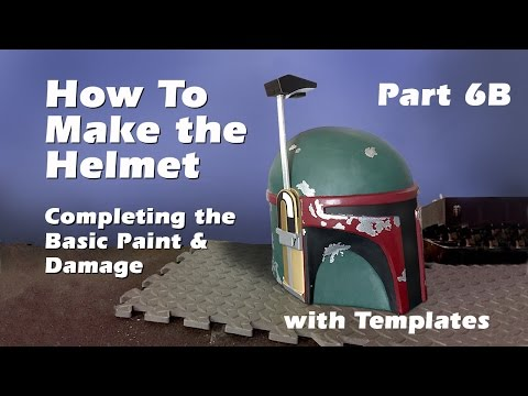 How to make a Boba Fett Helmet (Step by step guide) Part 6B