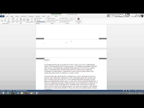 Page numbers starting from a specific page in Word 2013 tutorial for beginners