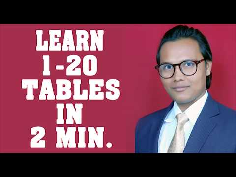LEARN TABLES IN EASY WAY UPTO 20 IN TWO MINUTES.