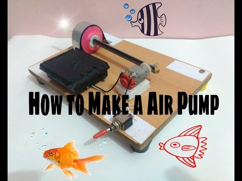 How to make a Air pump at home easy and fast