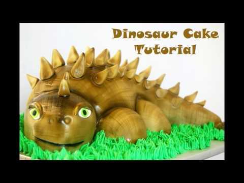Tutorial: Dinosaur Cake from scratch