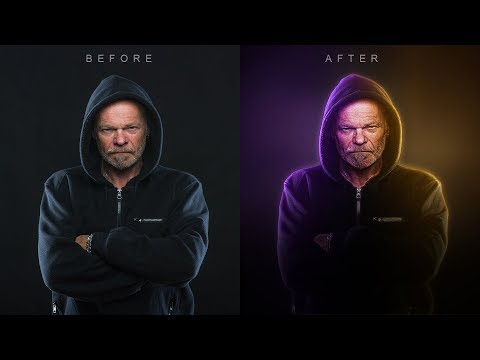 Boring to Awesome - Portrait Dual Lighting Effect with Glowing Edges in Photoshop