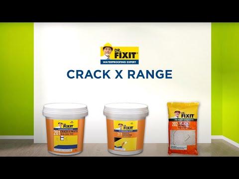 Dr. Fixit Crack- X range - Wall cracks - Application