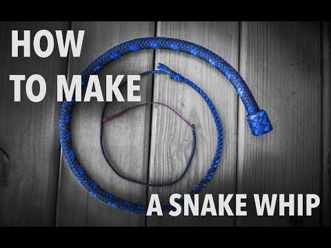 How to Make a Snakewhip - by Nick Schrader