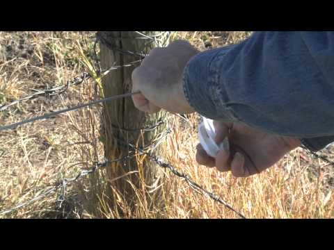 How to install electric fence wire between corner post insulators