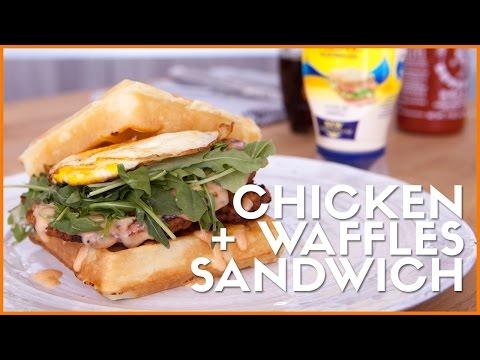 5-Ingredient Chicken + Waffles Sandwich! ◈ Ingrid Nilsen