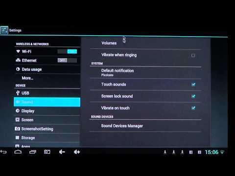 Android Sound and Vibration settings
