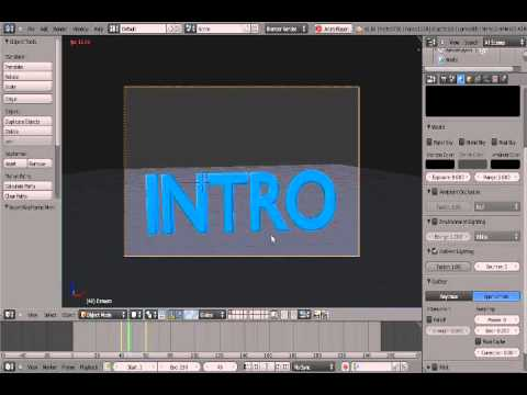 Blender tutorial: how to make an intro