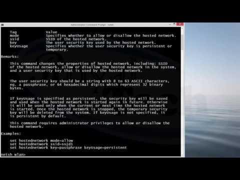 How to setup wifi hotspot on windows 7/8/8.1/10 using netsh wlan hack command