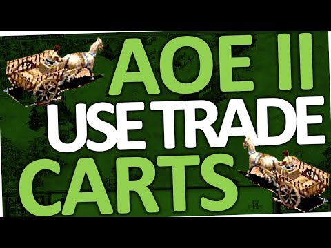 Age of Empires 2 HD - How to use Trade Carts (AoE II)
