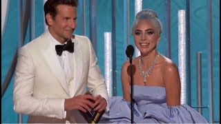 Lady Gaga - Golden Globes 2019 (Presents The Award & Wins Best Original Song)