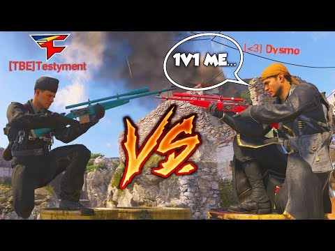 Dysmo Vs. FaZe Testy! 1V1 AGAINST THE BEST SNIPER IN FAZE CLAN! - COD WW2