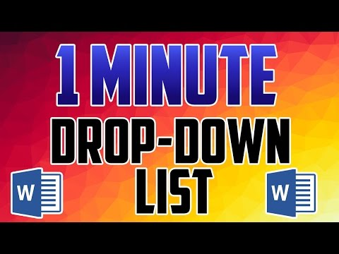 Word 2016 : How to Create a Drop-Down List