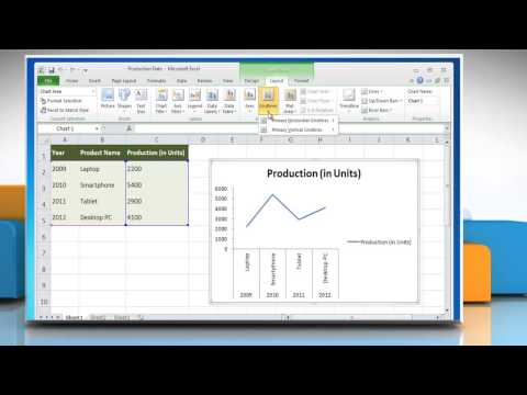 How to show & hide Gridlines in Line Graphs in Excel 2010