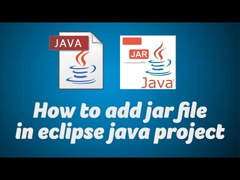 How to add jar file in eclipse java project