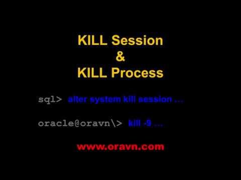 ORACLE: KILL session và KILL process kết nối tới database