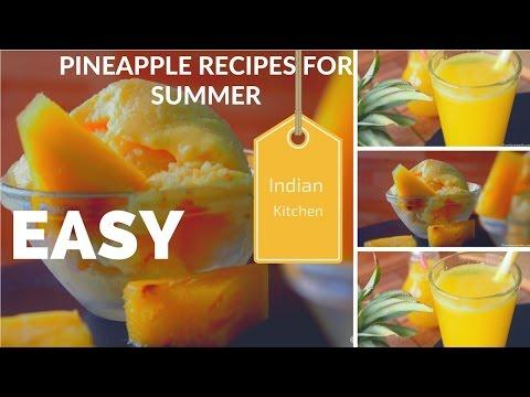 How to make Pineapple frozen yogurt | Easy Pineapple Recipes for Summer