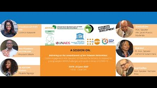 Online Engagement with Speakers of National Parliaments, & young people #OurYouthIndaba