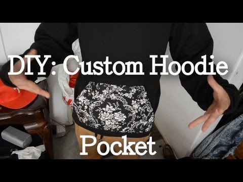 DIY: Custom Hoodie Pocket Tutorial | KAD Customs #12
