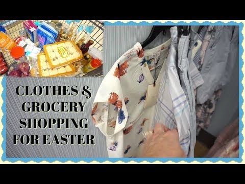 Clothes and Grocery Shopping for Easter (MARCH 30-31, 2018) VLOG