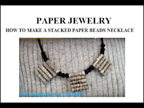 STACKED PAPER BEADS NECKLACE, HOW TO DIY, jewelry making