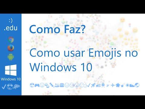 Como Faz: Usar Emojis no Windows 10 😉
