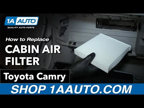 How to Replace Install Cabin Air Filter 09 Toyota Camry