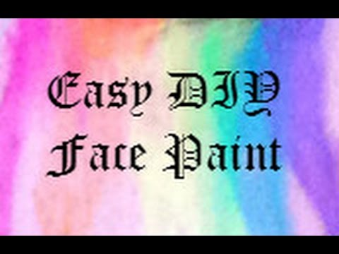 Easy DIY Face Paint