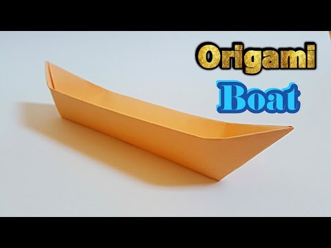 How to make an origami boat | long canoe