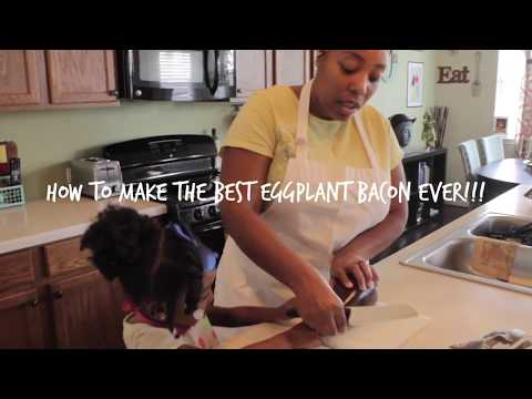 Making The Best Eggplant Bacon Ever!|Vegan Cooking with The Family O
