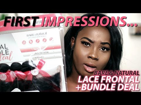 Sensationnel Lace Frontal Bundle Deal | Sensationnel Bare and Natural First Impressions Hair Review