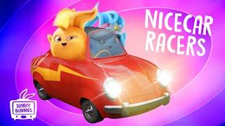 🔴  LIVE SUNNY BUNNIES TV   NICECAR Racers   Cartoons for Children