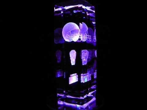 NFL Cleveland Browns 3D Laser Etched Crystal - 6 Inch -