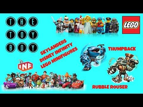 SKYLANDERS Rubble Rouser & Thumpback, DISNEY Infinity, LEGO MINIFIGURES!
