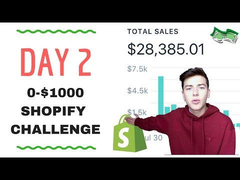 🔥 DAY 2   SHOPIFY $0-$1000 CHALLENGE   INFLUENCERS 🔥