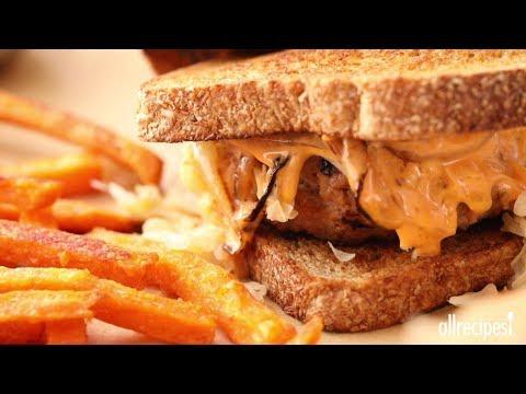 How to Make Turkey Reuben Burgers | Ground Turkey Recipes | Allrecipes.com