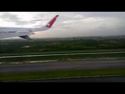 Takeoff from suvarnabhumi international airport, Nepal airlines Airbus 320