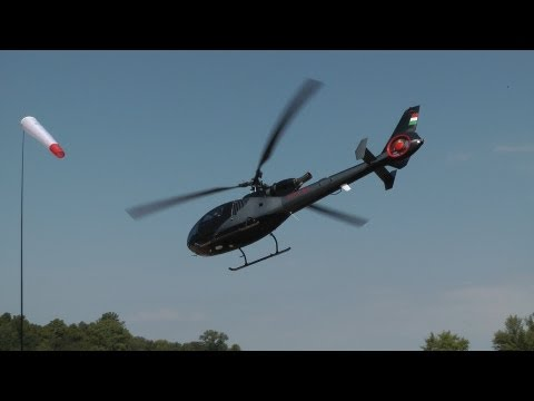 Aérospatiale Gazelle (HA-LFA) full startup and takeoff