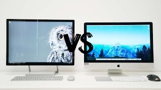 Surface Studio vs 5K iMac - BATTLE OF THE ALL IN ONES