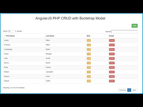 AngularJS PHP CRUD with Bootstrap Modal