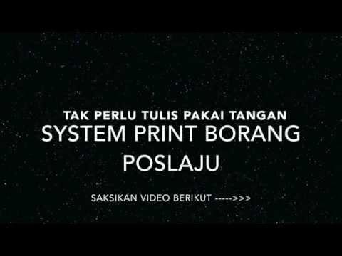 System Print Borang Poslaju
